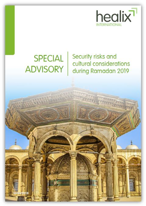 Special advisory front cover